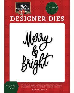 Merry & Bright Dies - Happy Christmas - Carta Bella