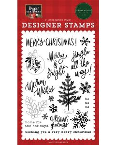 Jingle All The Way Stamps - Happy Christmas - Carta Bella