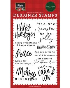 Enjoy The Season Stamps - Happy Christmas - Carta Bella