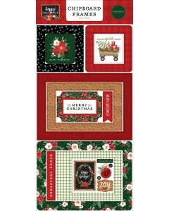 Happy Christmas Chipboard Frames - Carta Bella