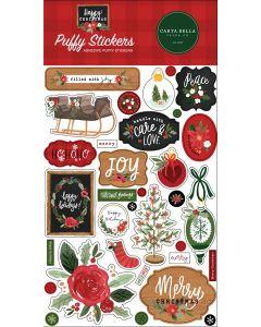 Happy Christmas Puffy Stickers - Carta Bella