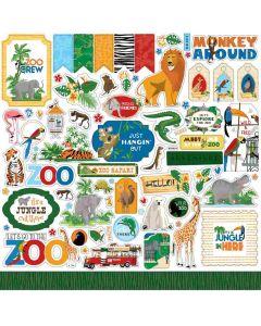 Zoo Adventure Element Stickers - Carta Bella