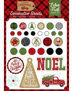 Echo Park - Celebrate Christmas Collection - Decorative Brads