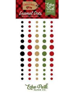 Echo Park - Celebrate Christmas Collection - Enamel Dots