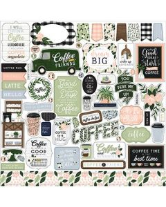 Coffee & Friends Element Stickers - Echo Park*