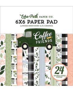 "Coffee & Friends 6"" x 6"" Paper Pad - Echo Park"