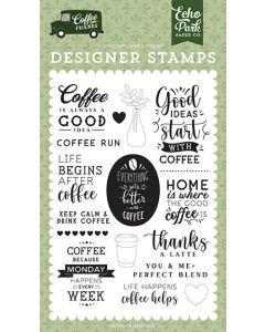 Coffee Run Stamps - Coffee & Friends - Echo Park*