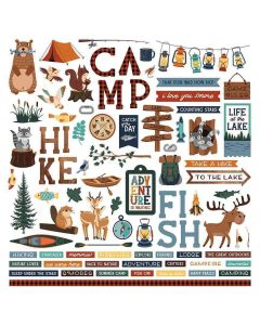 Camp Happy Bear Element Stickers - Becky Moore - PhotoPlay*