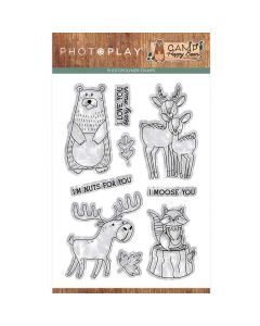 """Camp Happy Bear 4"""" x 6"""" Stamp - Becky Moore - PhotoPlay*"""