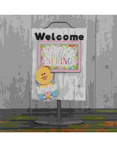 Foundations Decor Chick Welcome Sign 1