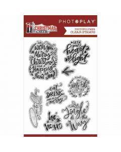 Christmas Cheer Phrase Clear Stamps - PhotoPlay
