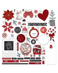 Christmas Cheer Card Kit Stickers - PhotoPlay