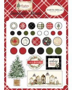 Carta Bella Paper - Christmas Collection - Decorative Brads