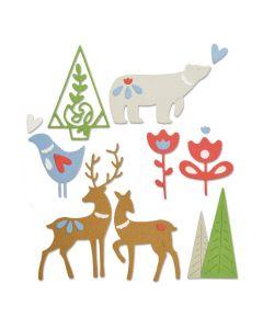 Christmas Elements Thinlits Die Set - Lisa Jones - Sizzix