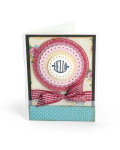 Lori Whitlock Circle Sentiments Card idea