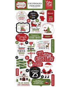 Christmas Magic Chipboard Phrases - Echo Park