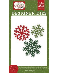 Seasonal Snowflakes Dies - Christmas Magic - Echo Park
