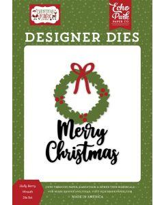 Holly Berry Wreath Dies - Christmas Magic - Echo Park
