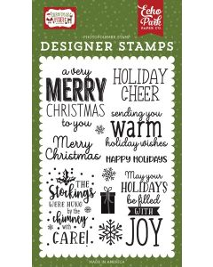 Warm Holiday Wishes Stamps - Christmas Magic - Echo Park