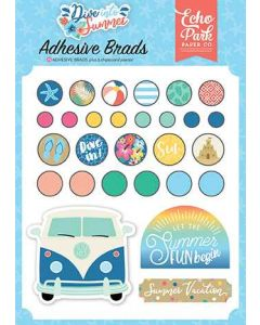 Dive Into Summer Adhesive Brads - Echo Park*