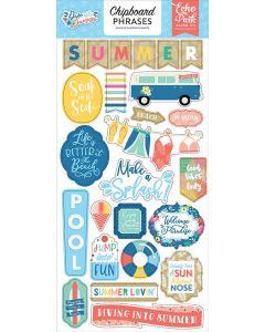 Dive Into Summer Chipboard Phrases - Echo Park*