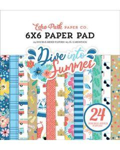 """Dive Into Summer 6"""" x 6"""" Paper Pad - Echo Park*"""