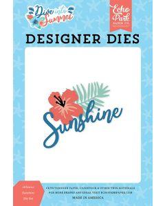 Hibiscus Sunshine Die Set - Dive Into Summer - Echo Park*
