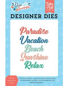 Paradise Vacation Word Die Set - Dive Into Summer - Echo Park