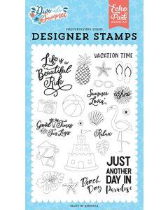 Paradise Stamp Set - Dive Into Summer - Echo Park*