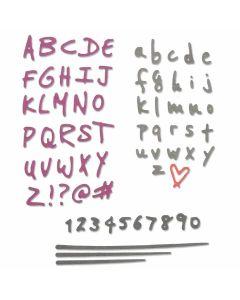 Doodle Alphabet & Numbers Thinlits Die Set - Sophie Guilar - Sizzix