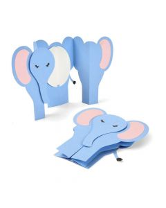 Elephant Fold-a-Long Card Thinlits Die Set - Jen Long - Sizzix