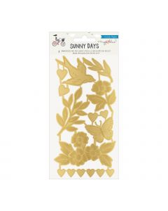 Maggie Holmes Sunny Days Embossed Gold Foil Embellishments
