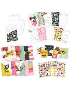 Monthly Planner Emoji Love cards