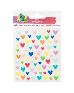 Stay Sweet Epoxy heart stickers