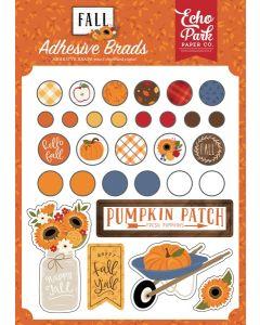 Fall Adhesive Brads - Echo Park