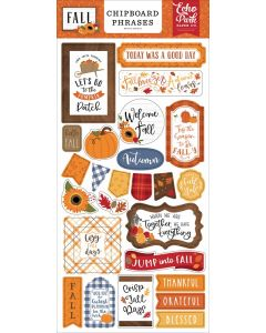 Fall Chipboard Phrases - Echo Park