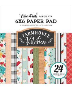 """Farmhouse Kitchen 6"""" x 6"""" Paper Pad - Echo Park*"""