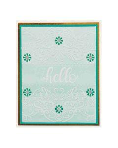Spellbinders Flora Banner Embossing Folder