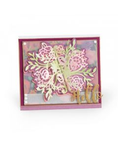 Katelyn Lizardi Floral Bunch Flip and Fold Card Sizzix