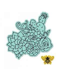 Jen Long Floral Embellishments die and stamp set
