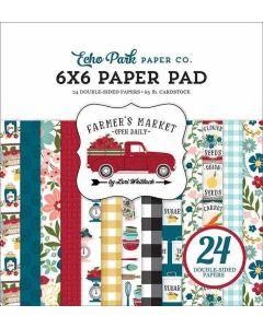 "Farmer's Market 6"" x 6"" Paper Pad - Echo Park*"