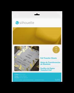 Silhouette gold foil transfer sheets