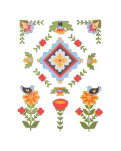 Folk Art Elements Thinlits Die Set - Courtney Chilson - Sizzix
