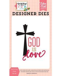 God Is Love Cross Die Set - Forward With Faith - Echo Park