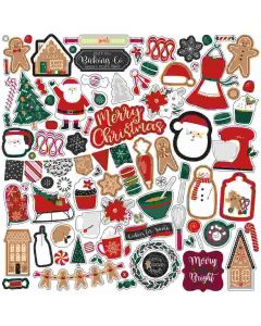 A Gingerbread Christmas Element Stickers - Echo Park