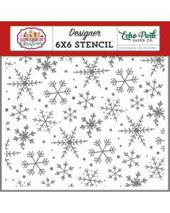 Magical Snowflakes Stencil - A Gingerbread Christmas - Echo Park