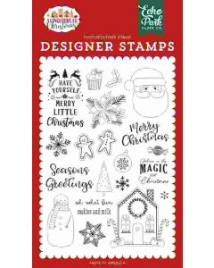 Cookies and Milk Stamps - A Gingerbread Christmas - Echo Park