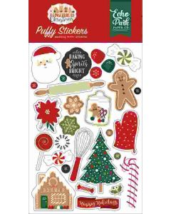 A Gingerbread Christmas Puffy Stickers - Echo Park