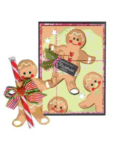 Gingerbread Garland tag project