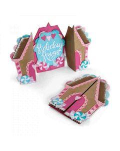 Jen Long Fold-A-Long Card Gingerbread card